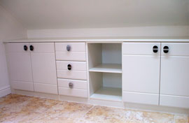 bathroom units comprising cupboards, drawers and shelves